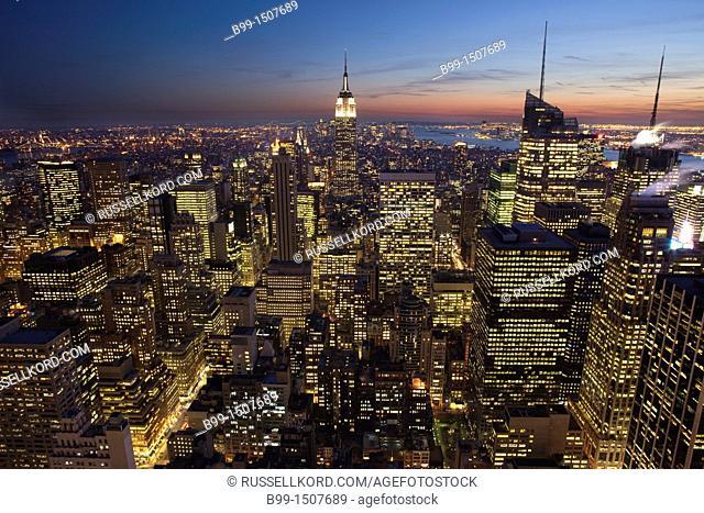 Midtown Skyline Manhattan New York City USA