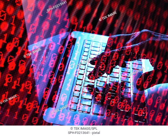 Cyber attack, conceptual image