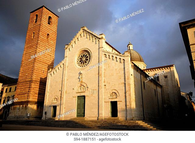 Cathedral of Pietrasanta in Lucca province, Tuscany, Italy