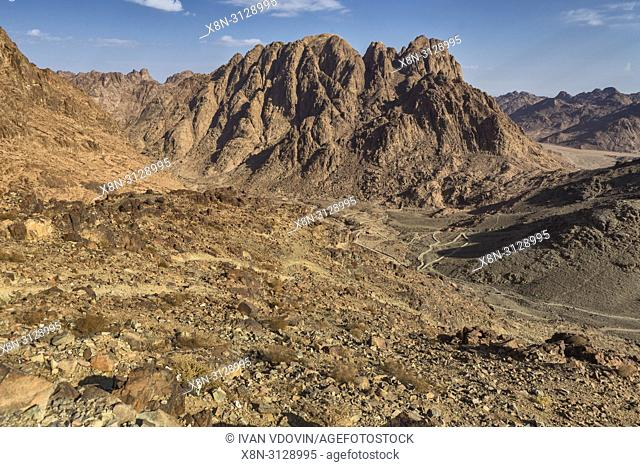 Sunrise, Mount Sinai, Gabal Musa, Sinai peninsula, Egypt