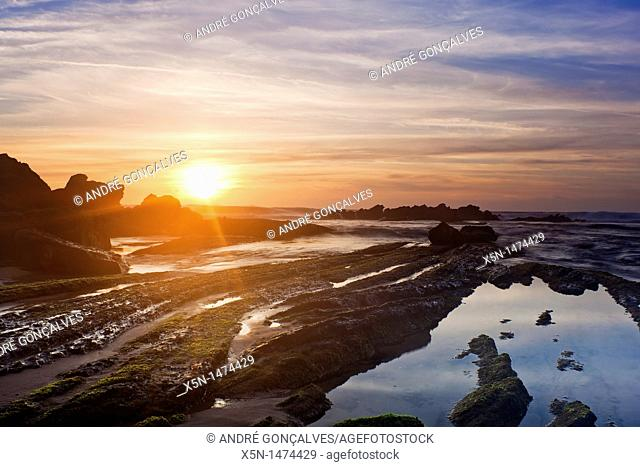 Beach in Santa Cruz, Torres Vedras, Portugal, Europe