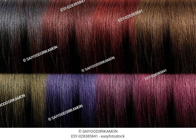 Beautiful color set of hairstyle