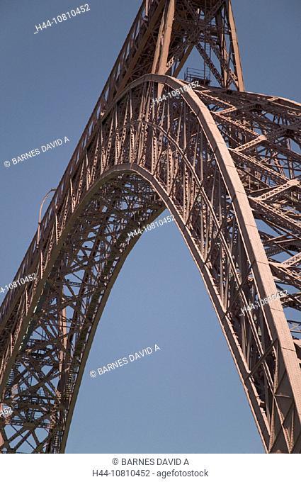 bridge, Cantal, Gustave Eiffel, engineer, engineering, France, Europe, Viaduc de Garabit, river Truyere, viaduct, wo