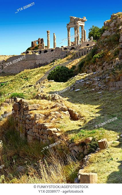 Roman Temple of Trajan, started by Trajan but after his death Emperor Hadrian (117-138) . A Corinthian order temple on a terrace with dimensions of 68×58m...