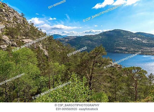Beautiful Norway scenery near Pulpit Rock