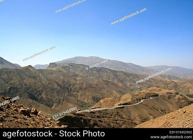 Strasse im Atlasgebirge MArokko