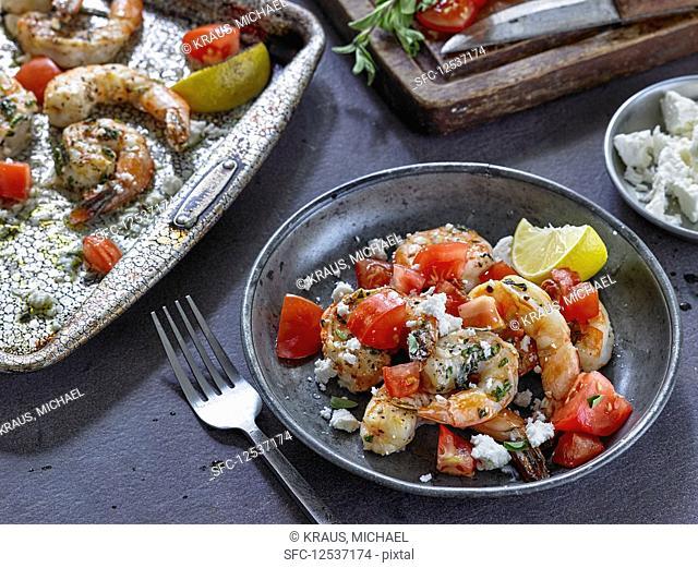 Greek Style Broiled Shrimp