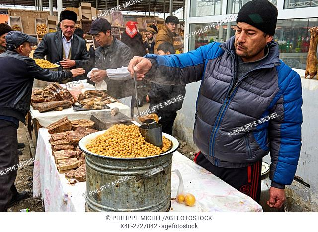 Uzbekistan, Fergana region, Marguilan, bazaar, food market