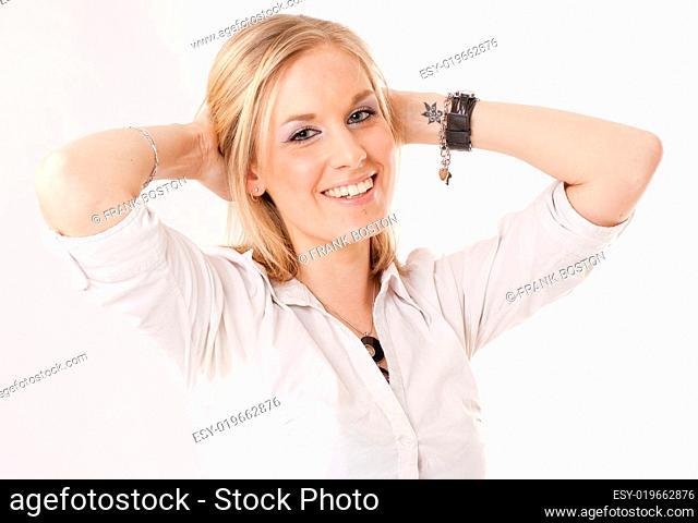 Laughing blonde