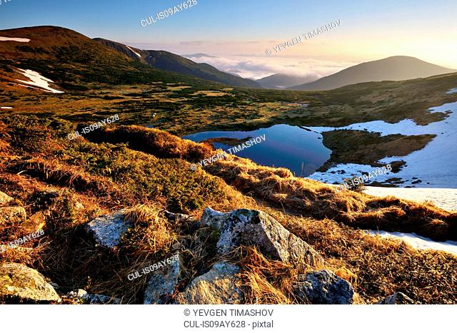 Chornogora Ridge Landscape, Carpathian Mountains, Ivano-Frankovsk Region, Ukraine