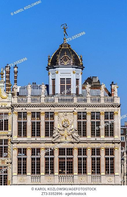 Le Roy d'Espagne Building, Grand Place, UNESCO World Heritage Site, Brussels, Belgium