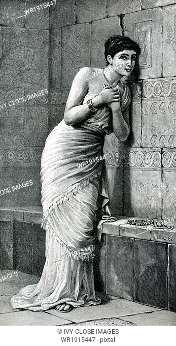 A beautiful Babylonian maiden named Thisbe loved Pyramus, who lived next door, but their parents opposed their relationship