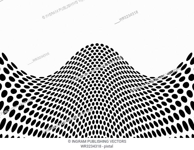 Black abstract surf wave background with black and white colors