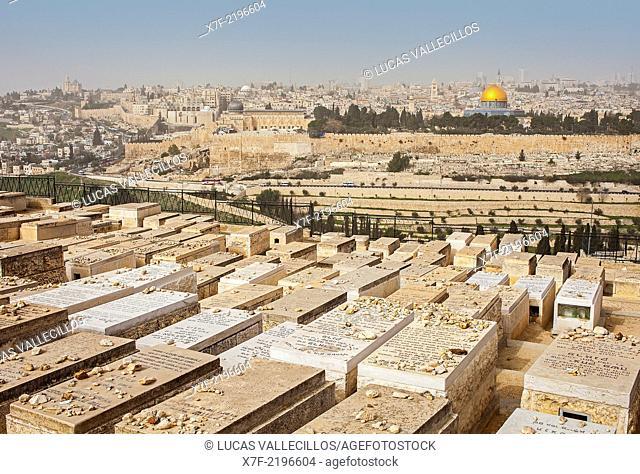 View of Jerusalem from Mount Olives, Jerusalem, Israel