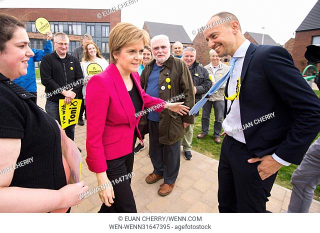 Nicola Sturgeon joins Toni Giugliano at a new housing development at Muirhouse Featuring: Nicola Sturgeon, Toni Giugliano Where: Edinburgh