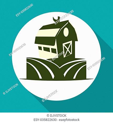 Farm Fresh concept with icon design, vector illustration 10 eps graphic