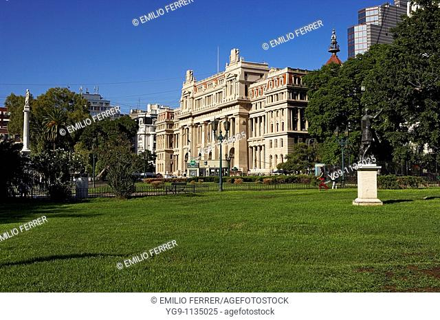 Law Court Building in Libertad Square  Buenos Aires  Argentina