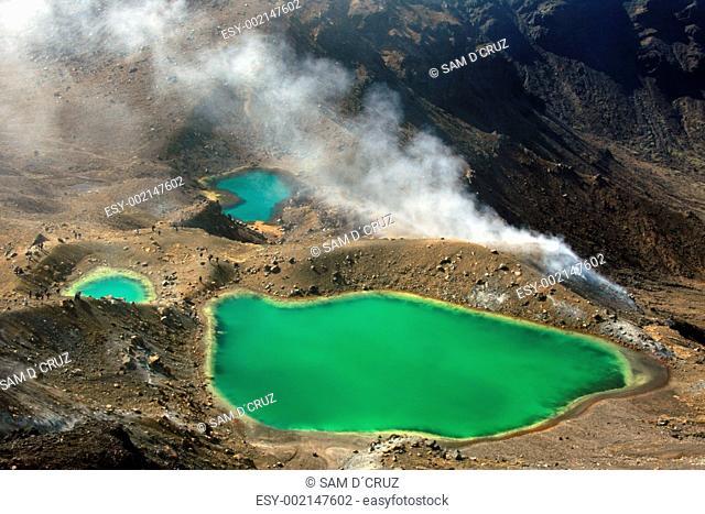 Emerald Green Lake - Tongariro National Park, New Zealand
