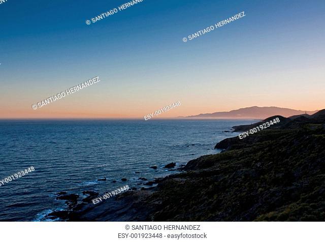 Coasline view at dusk