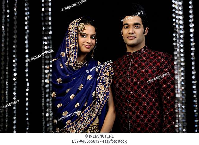 Portrait of a Muslim couple