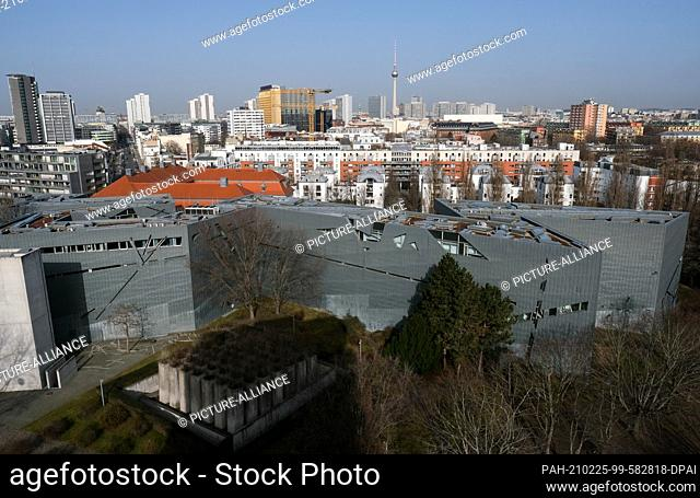 23 February 2021, Berlin: View of the Jewish Museum, built according to the plans of Daniel Libeskind on Lindenstraße in Kreuzberg