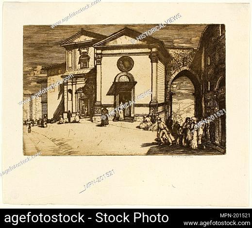 Perugia - 1905 - Donald Shaw MacLaughlan American, born Canada, 1876-1938 - Artist: Donald Shaw MacLaughlan, Origin: United States, Date: 1905