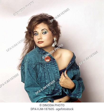 1989, Portrait Of Indian film actress Salma Agha