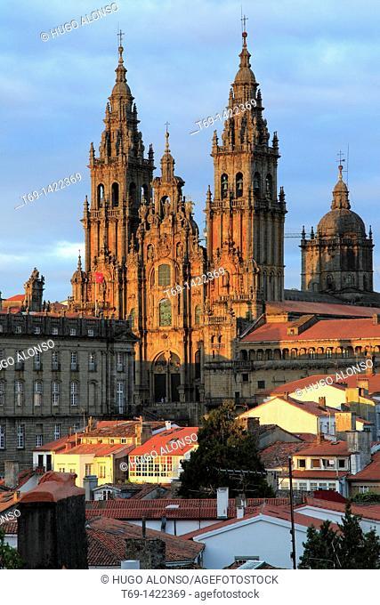 Cathedral of Santiago de Compostela City. Galicia Region. Spain