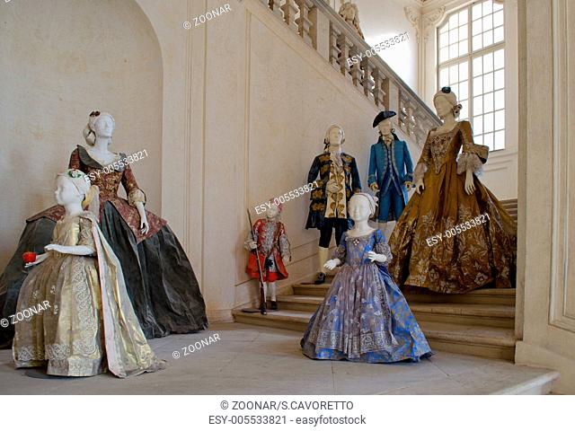 Baroque or victorian clothes and dresses