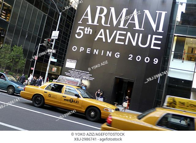 Armani store on 5th Avenue in Uptown Manhattan (New York, United States of America)