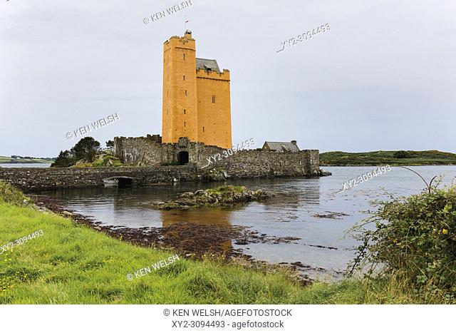Kilcoe Castle, at Roaringwater Bay near Ballydehob, County Cork, Ireland. The castle was originally built in the 15th century