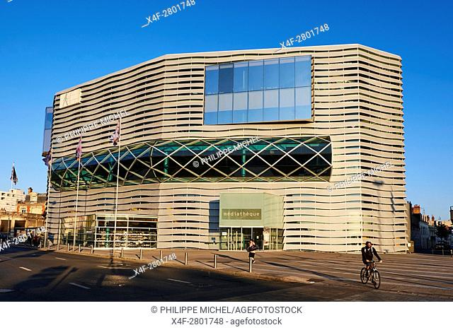 France, Loiret, Orleans, the Mediatheque library