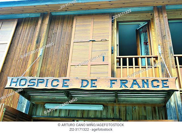 The Hospice de France is a shelter of mountain at the French Pyrenees. Haute-Garonne department; Occitanie region; France