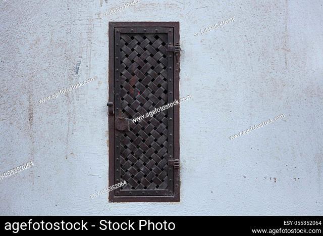 Old metal ornamented window