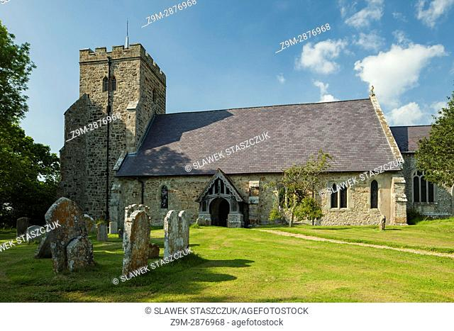 Spring afternoon at All Saints church in Laughton village, East Sussex, England