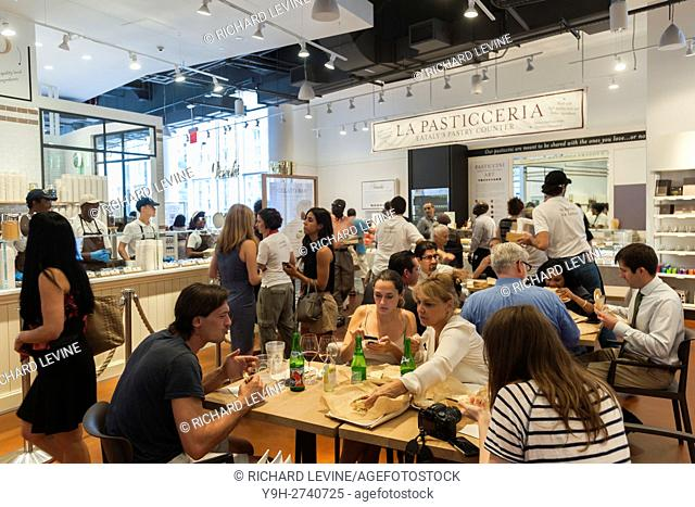 Hordes of foodies converge at the grand opening of Eataly Downtown in Lower Manhattan in New York. Located in 4 World Trade Center the emporium of all foods...