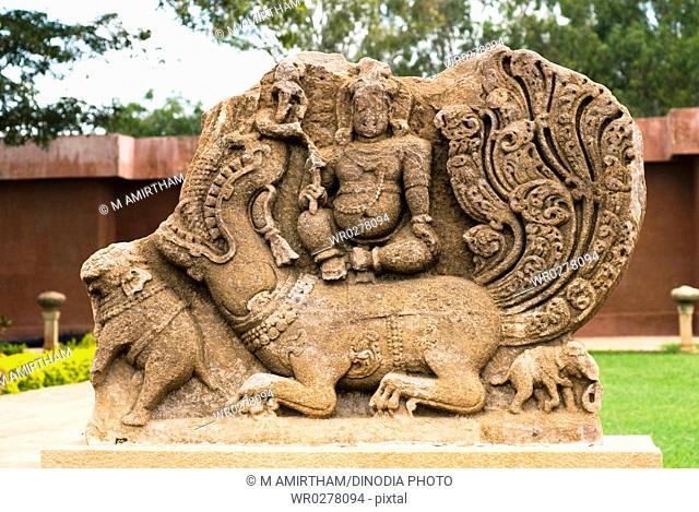 Sculpture in Durga temple complex , Aihole , Karnataka , India