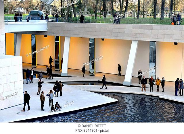 France, Paris, Bois de Boulogne, Louis Vuitton Foundation, Mandatory credit: architect Frank Gehry