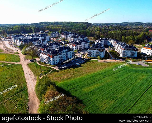 New buildings of estate in suburb district of Gdynia city, Poland