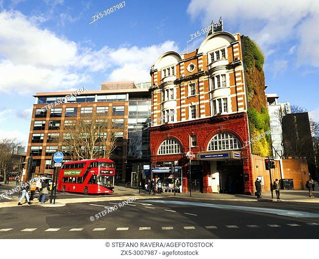 Elephant and Castle Underground Station Entry - London, England
