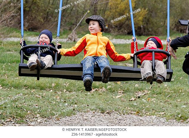 Boys at seesaw
