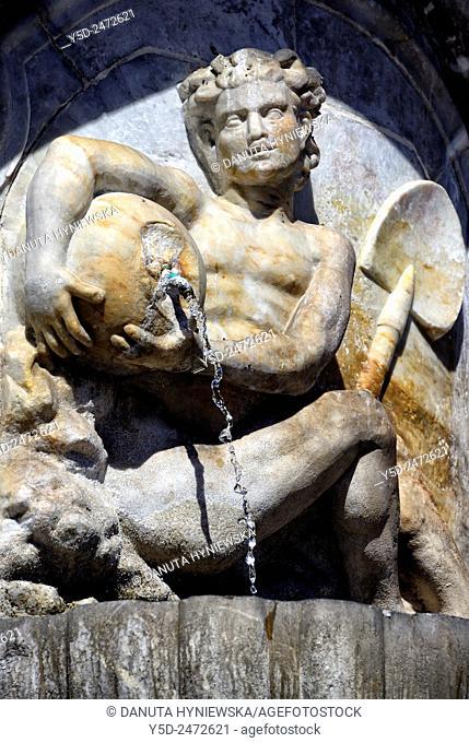 Fontana dell'Elefante, Elephant Fountain, detail, Piazza del Duomo, old town of Catania, Sicily, Italy