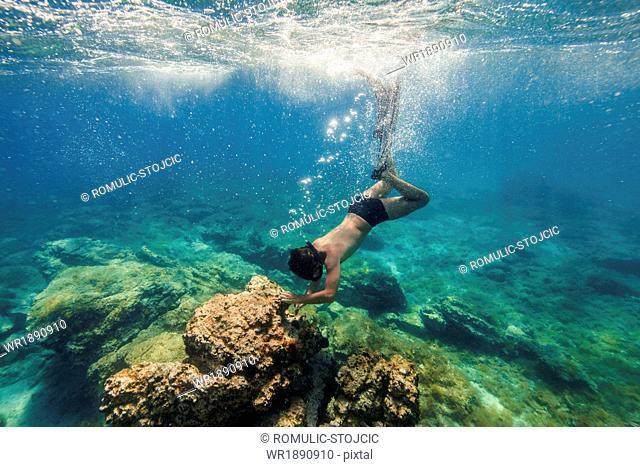 Diving into Water, Adriatic Sea, Dalmatia, Croatia