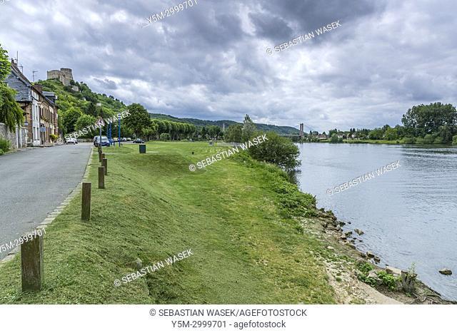 Chteau Gaillard over Les Andelys, Eure, Normandy, France, Europe