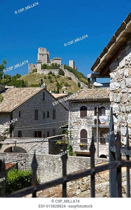Panoramic view of Assisi. Umbria