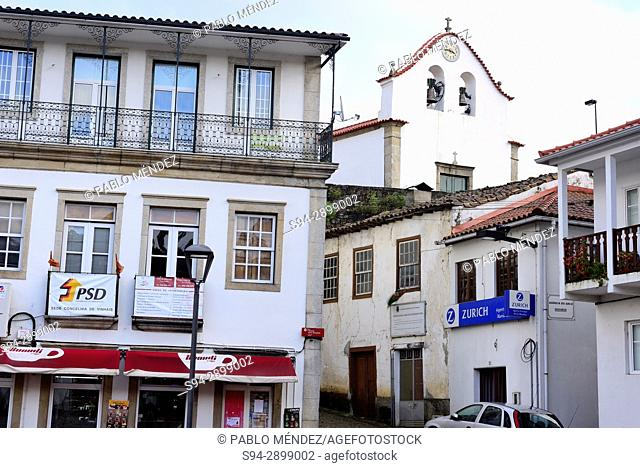 Facades in the Old Town of Vinhais, Portugal