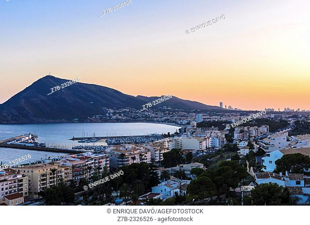 View of a Mediterranean landscape closed to Altea town, Alicante province, Spain