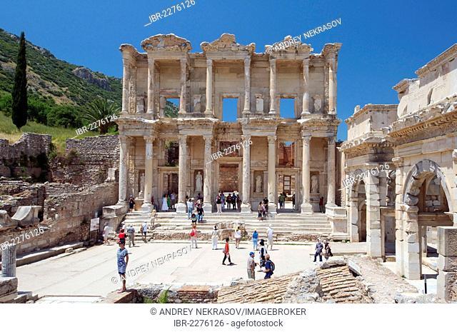 Library of Celsus, antique city of Ephesus, Efes, Turkey, Western Asia