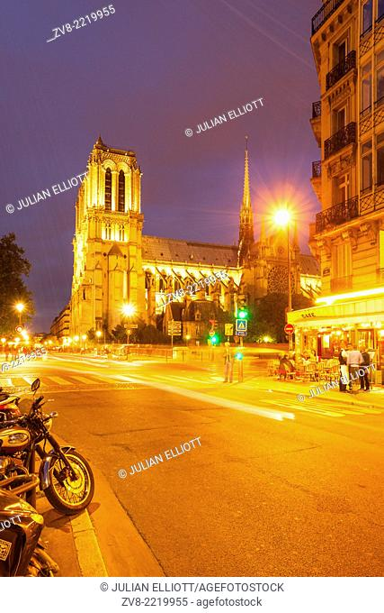 Notre Dame de Paris cathedral. The cathedral is widely considered to be one of the finest examples of French Gothic architecture and among the largest and most...