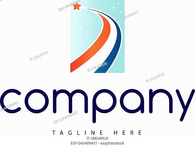 The logo shows a flying star cutting through the starry sky symbolizing development and prosperity